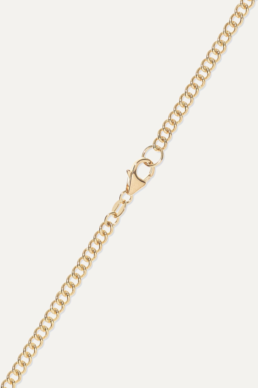 Foundrae Course Correction 18-karat white and yellow gold diamond necklace
