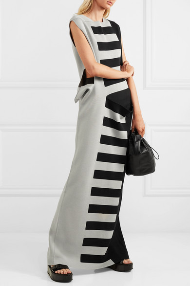 Rick Owens Dress Abito cutout striped silk maxi dress