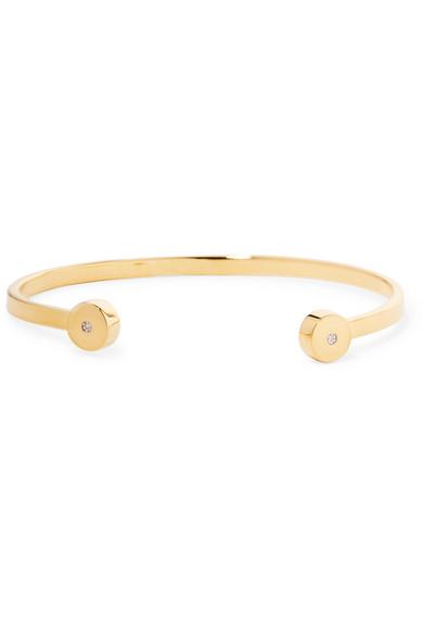 e12937c5b Monica Vinader | Linear Solo gold vermeil diamond cuff | NET-A ...
