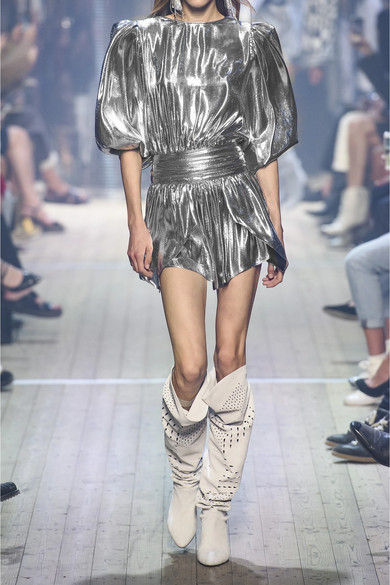 Isabel Marant Skirts Kira metallic silk-blend mini skirt