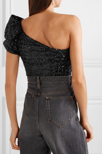 5d12f393bd594c Isabel Marant. Ocha one-shoulder sequined stretch-tulle top.  745.73. Play