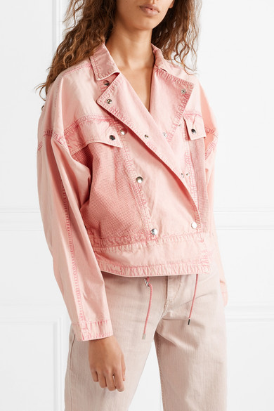 Isabel Marant Jackets Thalia mesh-paneled denim jacket