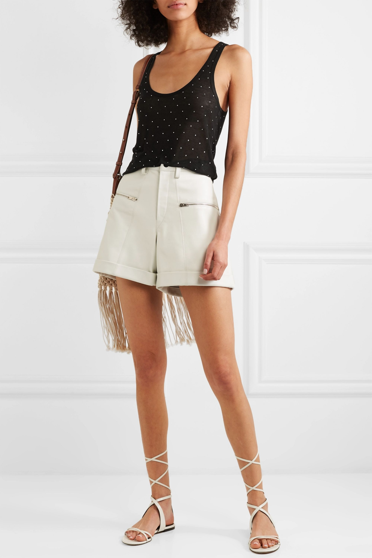 Isabel Marant Malia crystal-embellished Tencel, cashmere and silk-blend tank