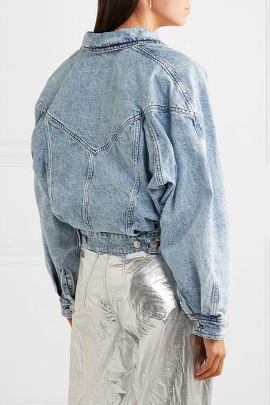 bf4b9b4c2 Isabel Marant | Ravena cropped stonewashed denim jacket | NET-A ...