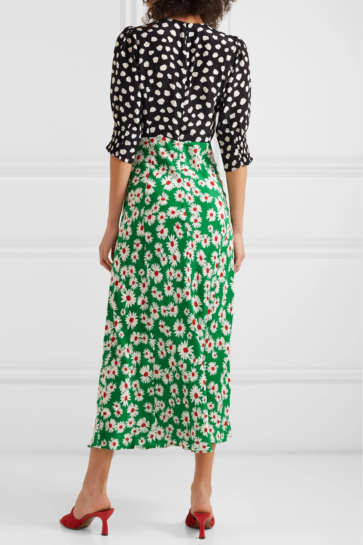 RIXO Martha printed silk crepe de chine midi dress
