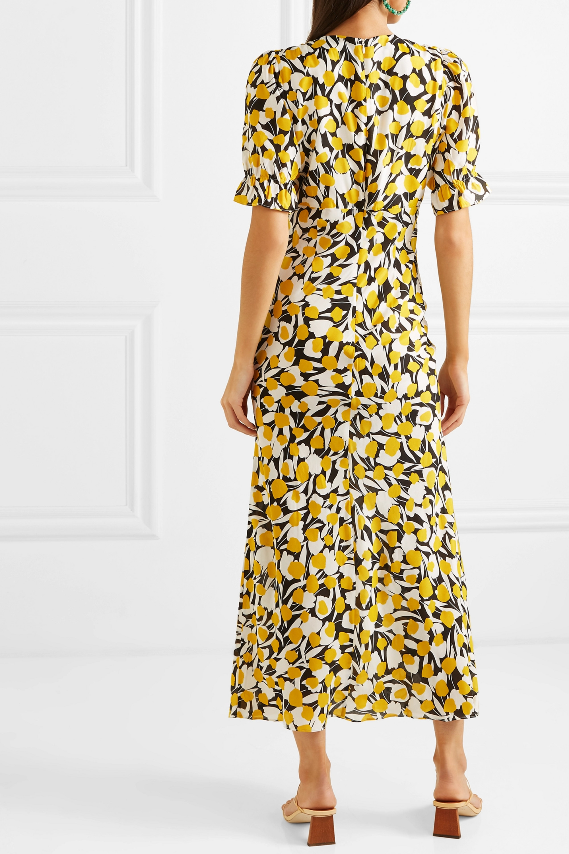 RIXO Ariel ruffled floral-print cotton and silk-blend dress