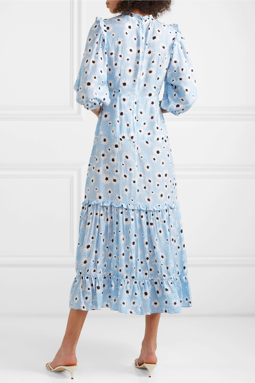RIXO Monet ruffled floral-print cotton and silk-blend dress