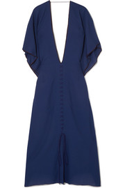 Adamson open-back wool-crepe midi dress