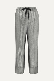 Lurex straight-leg pants