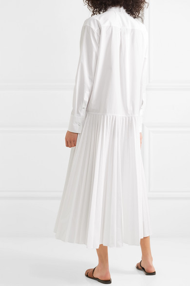 Valentino Dress Pussy-bow cotton-blend poplin maxi dress