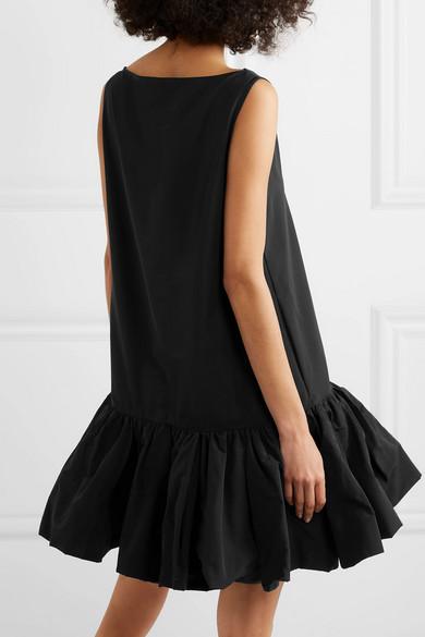 Valentino Dress Cotton-blend faille peplum mini dress