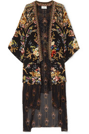 0576ee2ffbd2 Camilla Embellished floral-print silk crepe de chine and voile kimono