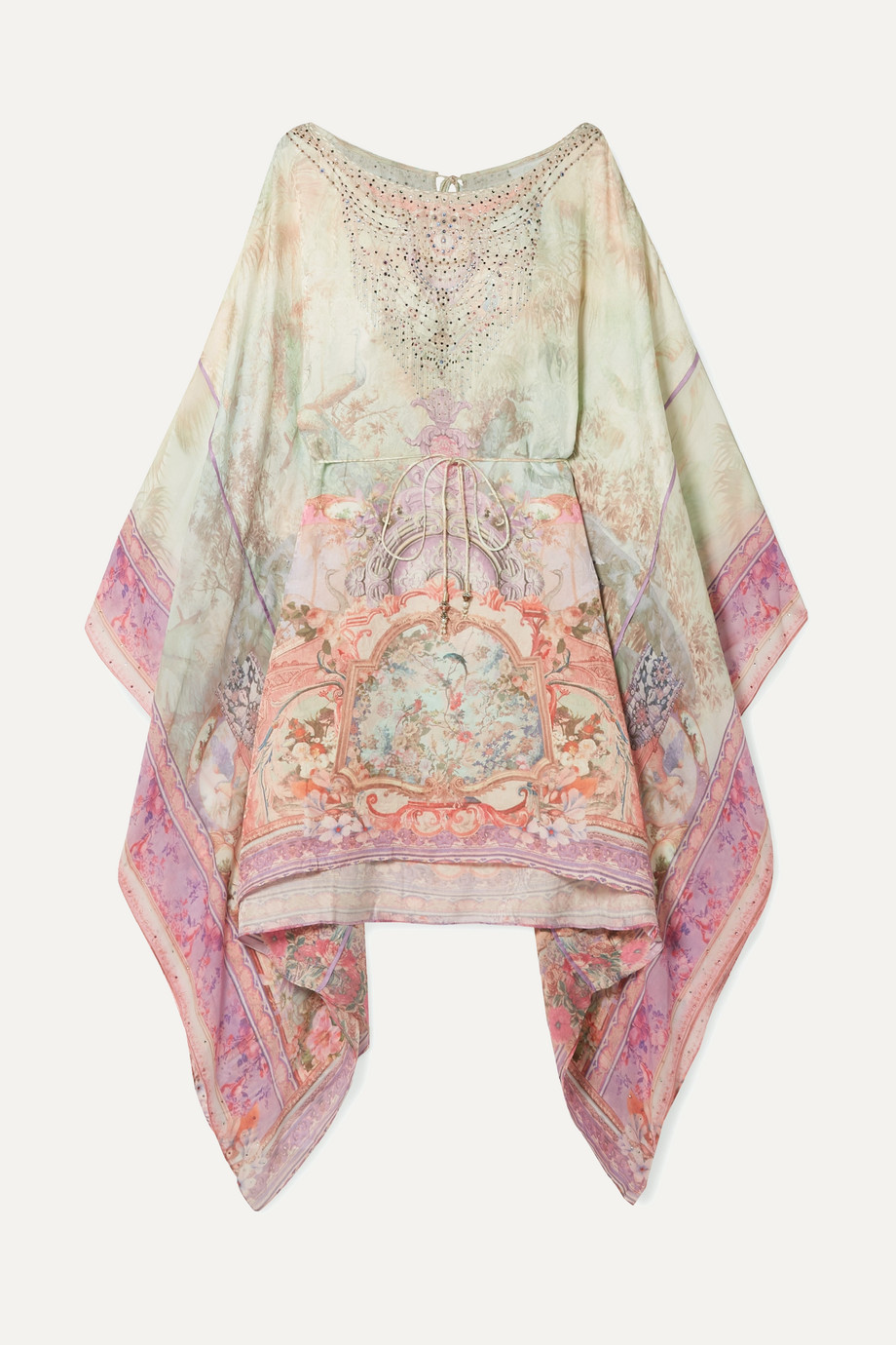 Camilla | Embellished printed silk crepe de chine mini dress | NET-A-PORTER.COM