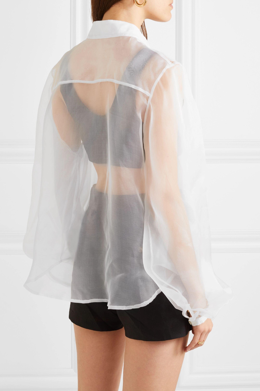 MATIN Silk-organza shirt