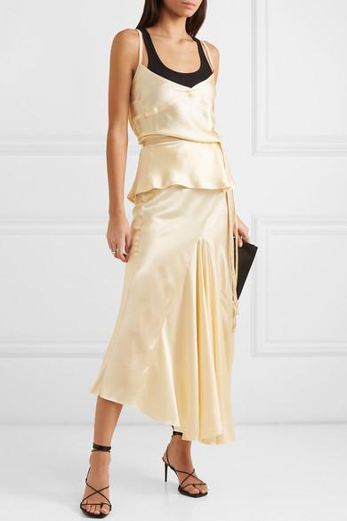 Ann Demeulemeester Skirts Silk-satin midi skirt