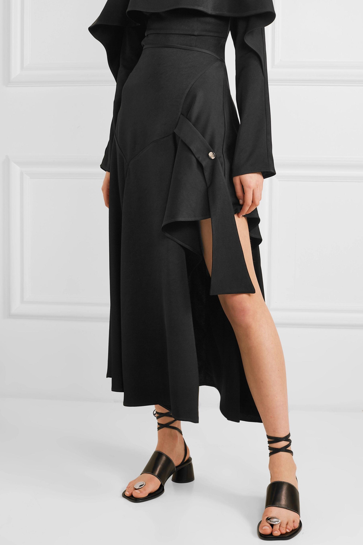 Ellery Faintest Sound draped satin-crepe skirt