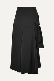 Ellery Faintest Sound draped satin-crepe skirt