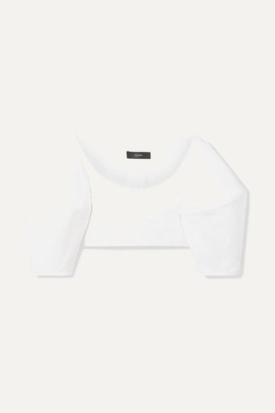 Neatly Labeled Cropped Cotton Twill Top by Ellery