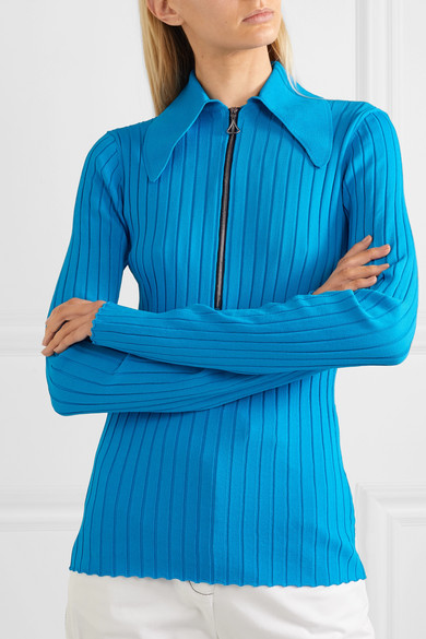 Ellery Knits Charters Bleu ribbed-knit top