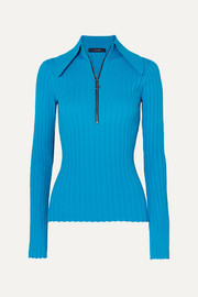 Ellery Charters Bleu ribbed-knit top