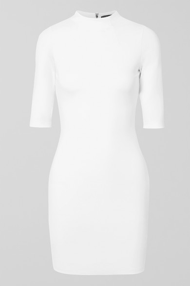 5e3c1fe80bd Alice And Olivia Alice+Olivia Fitted Short Dress - White