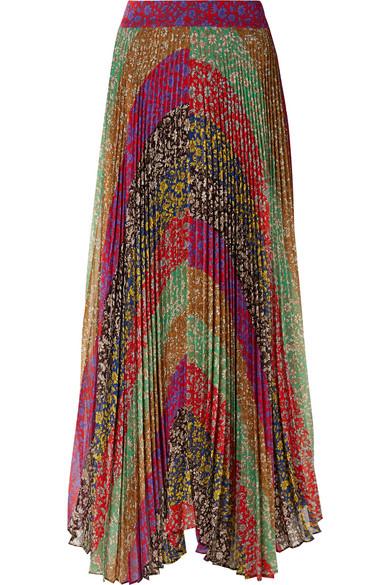 5248dcc6b2c3 Alice + Olivia | Katz pleated printed georgette maxi skirt |  NET-A-PORTER.COM