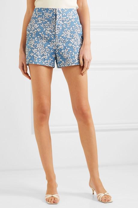 Cotton-blend jacquard shorts
