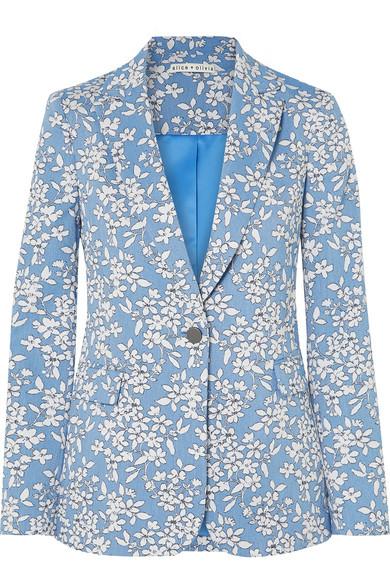 Floral Cotton Blazer