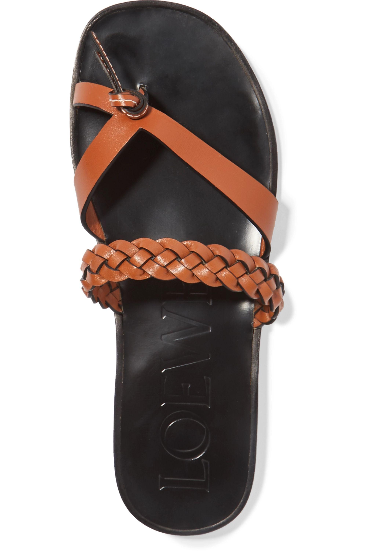 Loewe + Paula's Ibiza braided leather sandals