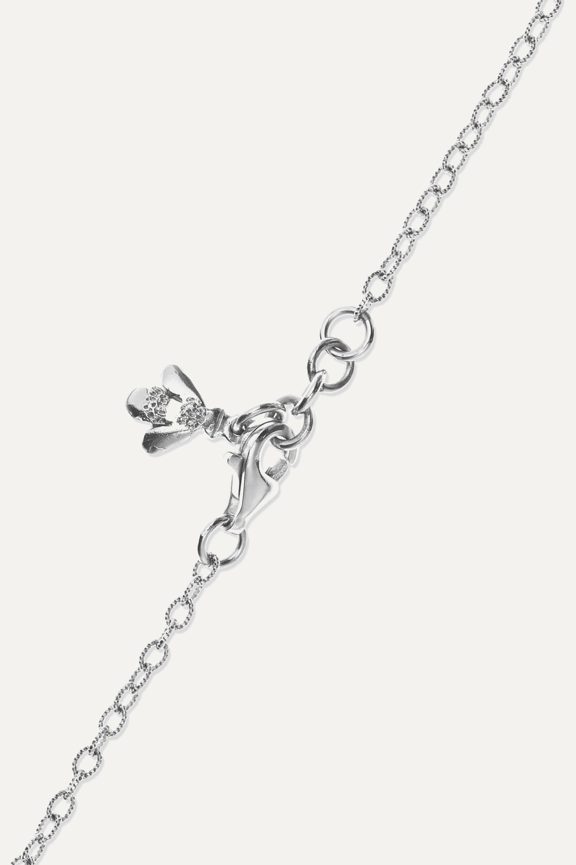 Carolina Bucci Superstellar 18-karat white gold, pearl and diamond necklace
