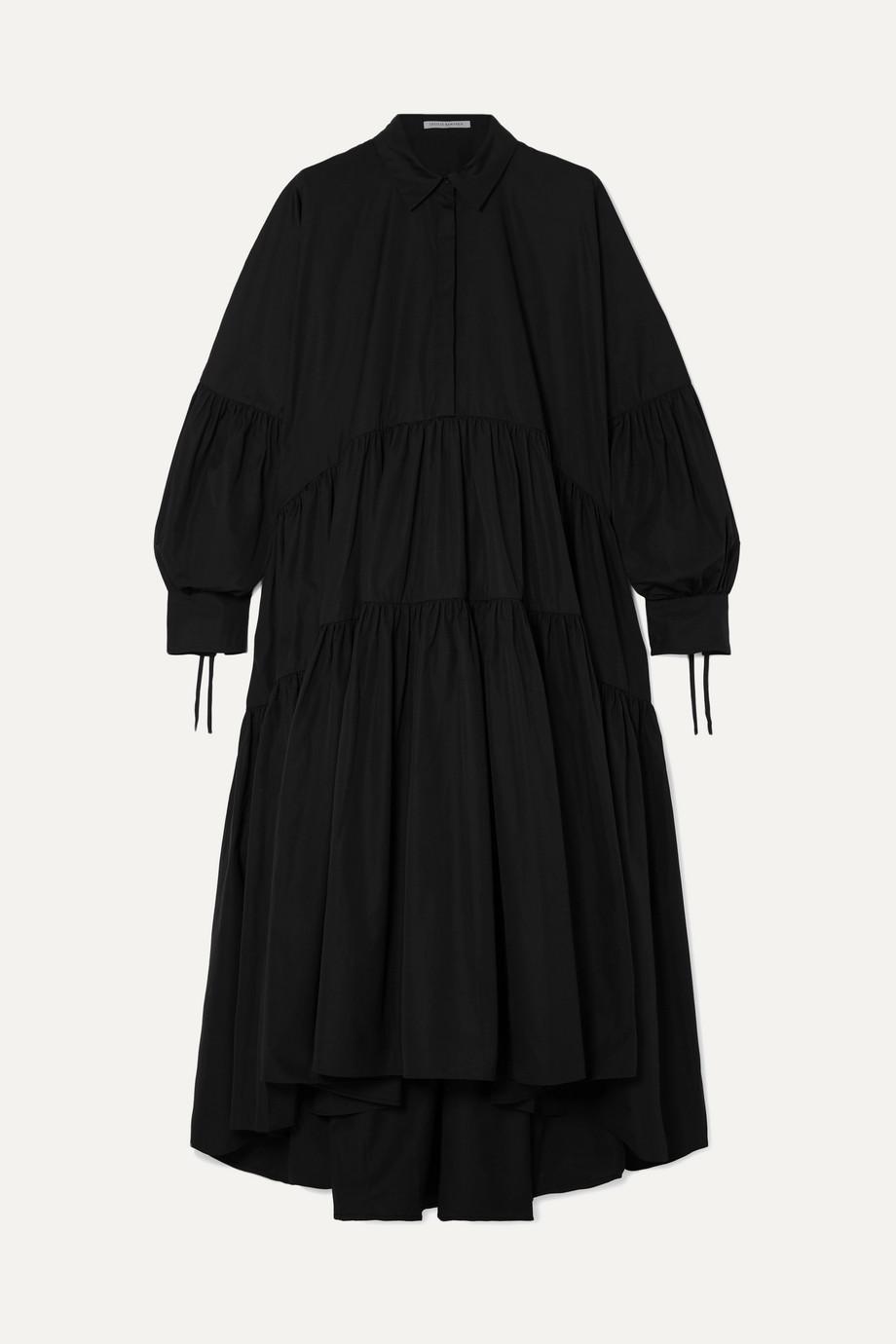Cecilie Bahnsen | Cleo tiered ruched cotton-poplin maxi dress | NET-A-PORTER.COM