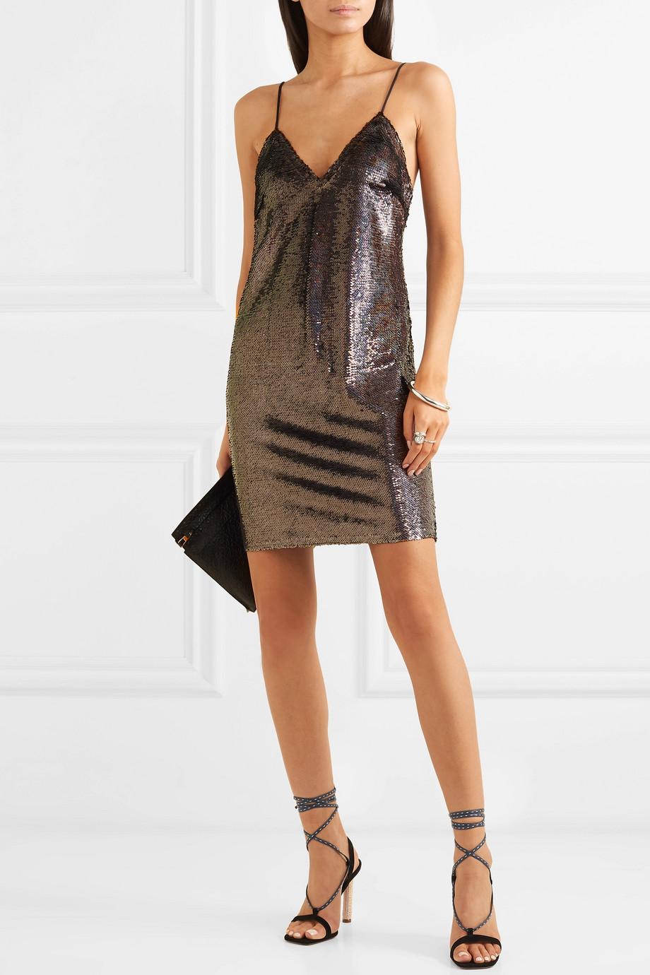 IRO Noret sequined crepe mini dress