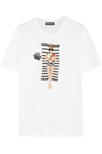 54d9cd8486 Markus Lupfer | Alex Vogue Girl sequined cotton-jersey T-shirt | NET-A -PORTER.COM