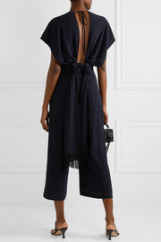 Sky open-back Lyocell jumpsuit