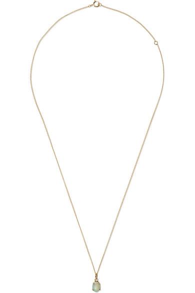 WWAKE | Wwake - 14-karat Gold Opal Necklace - one size | Goxip