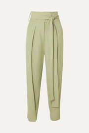 Petar Petrov Hallet belted woven straight-leg pants