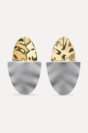 Shah coated gold-plated earrings