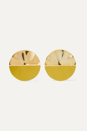 Gala coated gold-plated earrings