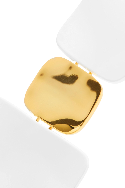 Nausheen Shah x Monica Sordo Shoulder Dusters coated gold-plated earrings