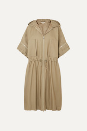 Stella McCartney Hooded herringbone cotton-blend coat