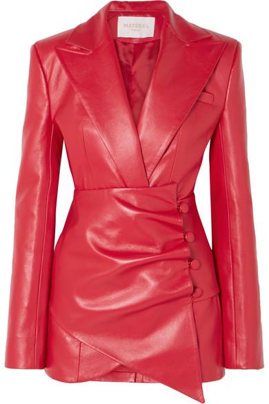 Exact Product: Kourtney Kardashian Red Blazer Dress Winter 2019, Brand: MATÉRIEL, Available on: net-a-porter.com, Price: EUR531