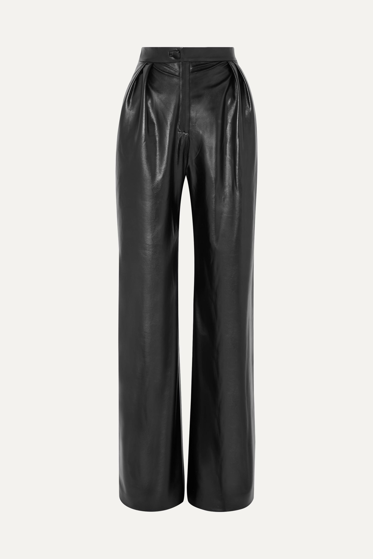 MATERIEL Pleated faux leather wide-leg pants