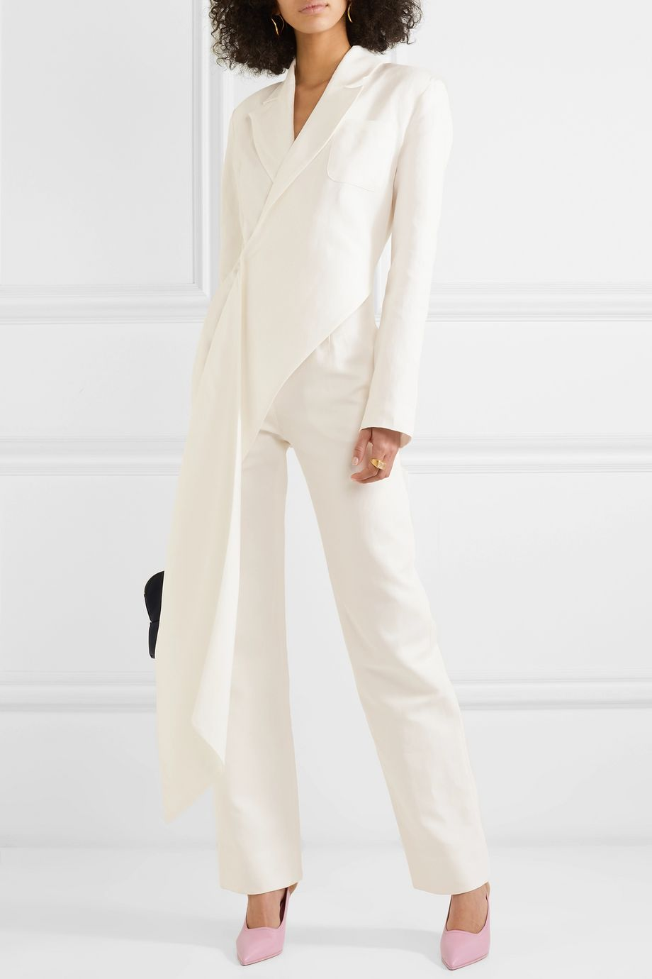 MATERIEL Draped linen and cotton-blend jumpsuit