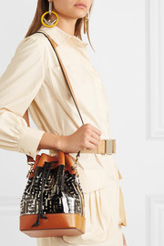 Fendi Mon Trésor medium printed PVC and leather bucket bag