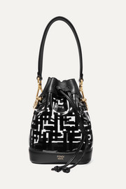 Fendi Mon Trésor mini printed PVC and leather bucket bag