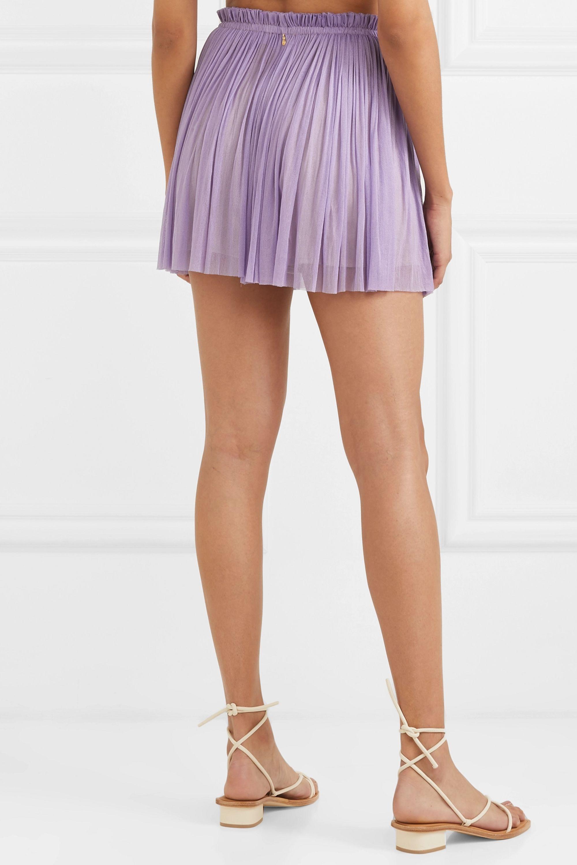 Elena Makri Antigone pleated silk-tulle mini skirt