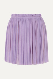 Elena Makri Antigone pleated silk-tulle mini skirt