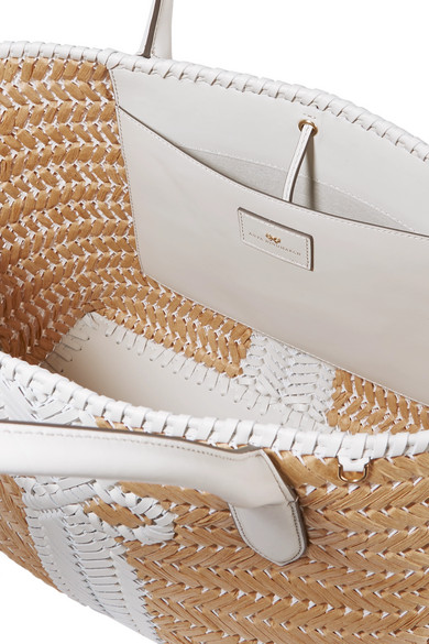 Anya Hindmarch Totes Nesson woven leather and straw tote