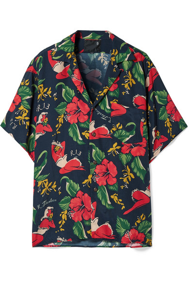 R13 T-shirts Printed voile shirt