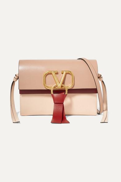 97f87ce33f Valentino | Valentino Garavani VRING mini color-block leather shoulder bag  | NET-A-PORTER.COM